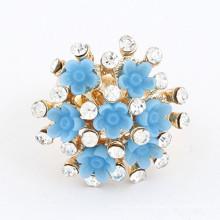 Anillo de compromiso barato al por mayor del diamante de la turquesa del anillo
