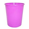 Cubo de basura abierto plástico púrpura para el hogar (B06-932NEW)