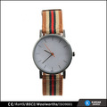 Vente chaude montre bracelet en nylon montre en acier inoxydable montre bracelet en nylon