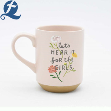 Factory promotional custom printed coffee porcelain cup ceramic mug