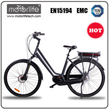 electric bicycle 2017 / 700C 36V 250W mid motor e-bike / best sale electric motorcycle