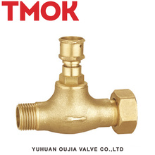 special designed double external thread brass stop valve