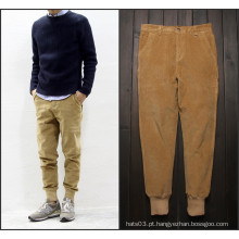 Homens Corduroy Casual Stripes Warm Pants