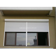 Amercian Style White Powder Coat Aluminium Roller Shutter Windows