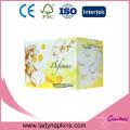Serviette hygiénique en coton doux d'utilisation de jour d'hygiène féminine super absorbante avec l'anion
