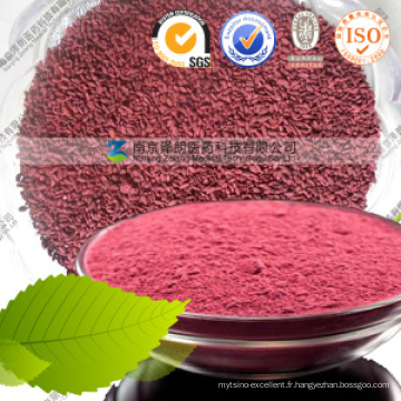 Pas de Citrinine Fonction Levure Rouge Arbre Poudre 4% Monacolin K