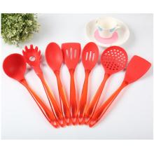 Set alat silikon Red Slotted Turner Spoon