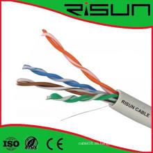 Cable UTP Cat5e de red de alto rendimiento con chaleco LSZH probado a 350 MHz