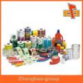 Fabriqué en Chine, des étiquettes autocollantes personnalisées, des étiquettes adhésives pour bouteilles en plastique, des étiquettes pour bouteilles en verre, une autocollant en plastique