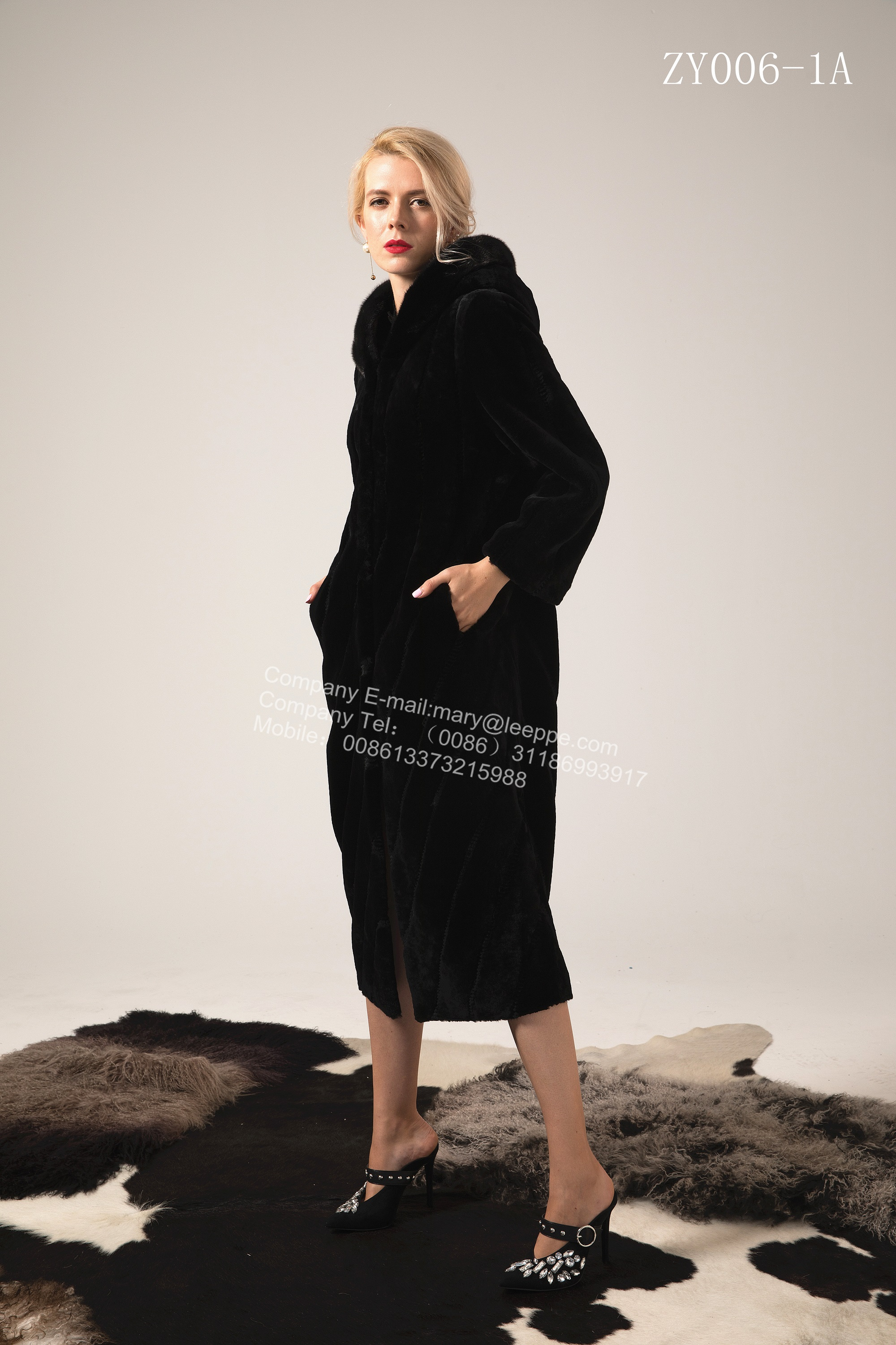 Women Long Copenhagen Mink Coat