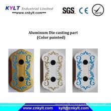 Многоцветная окрашенная алюминиевая деталь литья