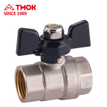 Ball valve manufacturer in china Yuhuan Female*Female thread butterfly handle with cheap price for water Oil