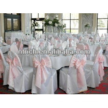 Couverture de chaise de polyester de haute qualité 100 %, couverture de chaise de visa pour mariage