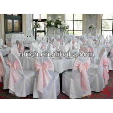 Cubierta de alta calidad 100% poliester silla, cubierta de la silla de visa para la boda