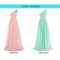 Kate Kasin One ShoulderLight Pink Chiffon Long Formal Bridesmaid Dresses KK000200-1