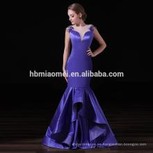Vestido de noche de sirena elegante bordado personalizado de las señoras Ocasión especial