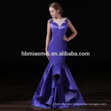 Custom Embroidered Ladies Special Occasion Elegant Mermaid Evening Dress