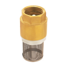 Forged brass spring check valve