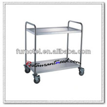 S084 Assembling 2 Layers Stainless Steel Service Trolley