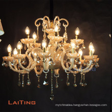 Classic lighting pendant candle abajur crystal light