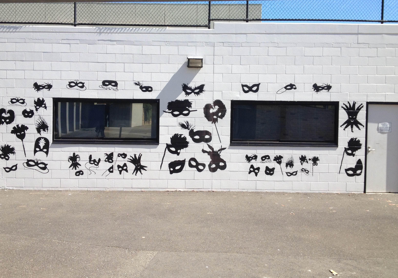 outside wall printer