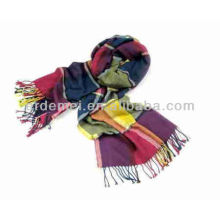 Длинный акриловый классический бархатный выгорающий шарф