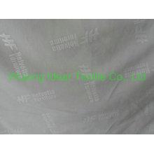 tecido 100% poliéster laço com logotipo gravado