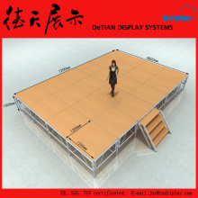 72x48m Square Yellow Color Shanghai Cheap Mobile Stage for Sale