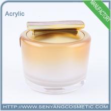 Новый дизайн оптовой косметической опарник контейнера акриловой упаковки контейнер jar