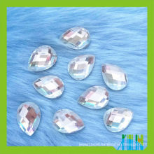 Wholesale high quality Wholesale teardrop flat mirror back glass stone