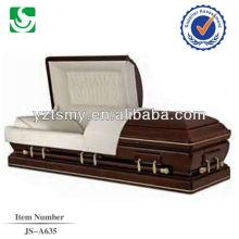 JS-A635 caixão de madeira de crepe cremação