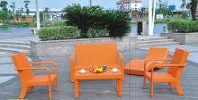 近代的なカラフルな屋外家具アームチェア ソファ
