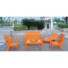Mobília ao ar livre colorido moderno poltronas sofás