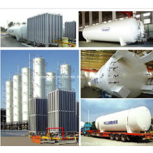 Lox / Lin / Lar Industrie Gaz Réservoir de stockage cryogénique Réservoir liquide d'oxygène / nitrogène / argon