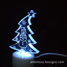 USB Crystal LED Xmas Tree, Perfect Gift for Holidays