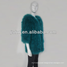2014 happy new year beautiful genuine colorful turkey feather fur coat