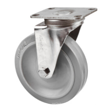 Medium Duty Shopping Cart Casters, Stainless Steel Casters