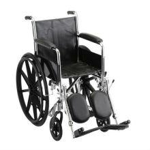 Cadeira de rodas manual que eleva o resto da perna com o braço de comprimento cheio