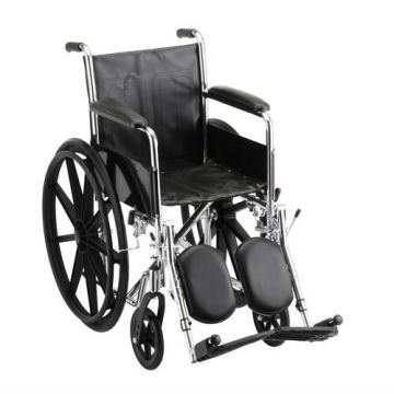manual wheelchair elevating leg rest with full length armrest