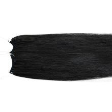 18inch 1# Human Knot Thread No Tip Tie Hair Extensions Keratin Remy Virgin Hair