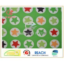320t Poly Taslon Star Style Printing, revêtement en PU, tissu de vêtement (ZCGP065)