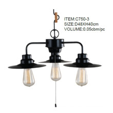 Black Metal Creative Pendant Lights with 3 Lights (C750-3)
