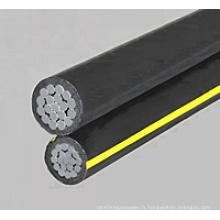 Conduite duplex 600V Type secondaire Urd Cable - Aluminium Conductor
