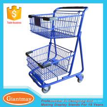 armazena carrinho de compras com 2 níveis para transportar frutas
