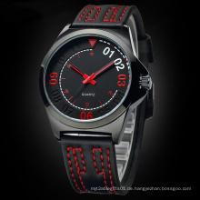 OEM Design Promotion Sport Gummi Uhr mit Japan Bewegung