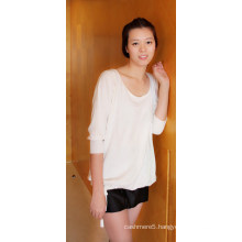 Ladies′ Cashmere & Cotton Blend Pullover