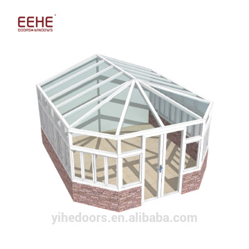 Prefabricated curved glass aluminium sunrooms