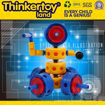 El juguete de ABS DIY transforma el robot