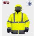 chaqueta directa de la seguridad de la bici de la fábrica de China al por mayor Chaqueta reflexiva de la softshell de la alta calidad de los hombres