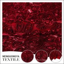 Красивая полиэстер цветочный вышивка шелковой лентой оптом для платье